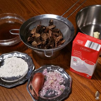 JB Morilles ingredients sauce morilles 1